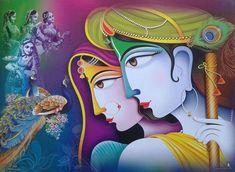 Shri Krishna, Radha & Gopis - Art POSTER (Exclusive Matte Paper 9x12 Inches)   Collectibles, Religion & Spirituality, Hinduism   eBay!