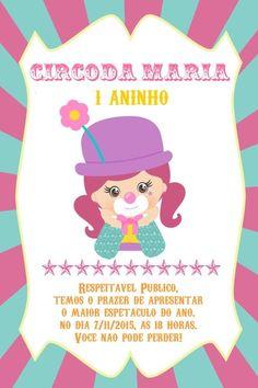 Convite digital personalizado Circo 007
