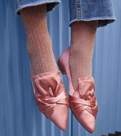f443c40fb Swedish Stockings Stella Shimmery Ankle Socks - Dusty Rose
