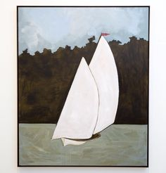 Populated with beamy sailboats iconic landmarks and serene seas Baird's new works are rendered with a sophisticated naivety that lulls the viewer into an aesthetic appreciation of the everyday.  FEATURED: 'Heading North' acrylic and shellac on board 150 x 120 cm  #johnbaird #exhibition #soloshow #landscape #sydneyharbour #sailboat #painting #boat #seascape #australianart #australianartist #arthousegallery by arthousegallery