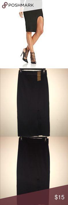 NWT Black High Slit Skirt Never worn. 10/10 condition Skirts Pencil