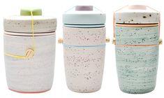 ceramic vessels from artist Ben Fiess