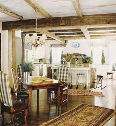 beautiful and comfortable country/ wooden beams