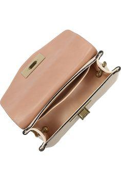 Sally Swarovski crystal textured-leather shoulder bag