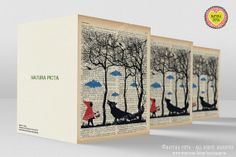 Set of 3 Little Red Riding Hood Greeting by naturapicta on Etsy, $11.25 © NATURA PICTA All Rights Reserved