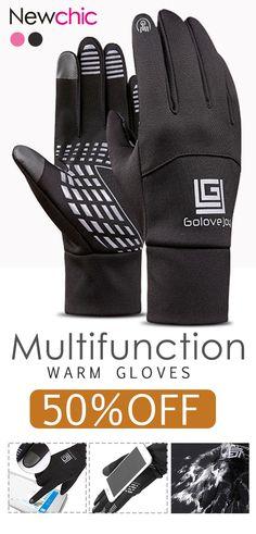 77669366a Men Women Warm Waterproof Windproof Touch Screen Ski Cycling Gloves Full  Finger Outdoor Fleece Glove is hot sale on Newchic.