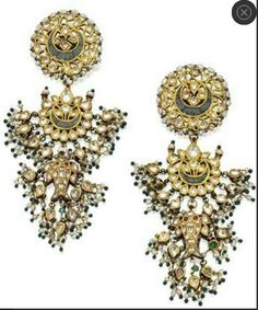 19th Century Kundan Earrings