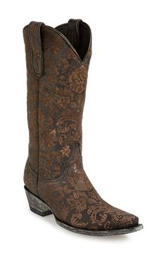 Old Gringo 'Nadia' Leather Western Boot leather black 12sh 1.5h sz7.5 484.95