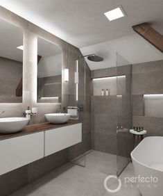 Bathroom Design Luxury, Bathroom Colors, Modern Bathroom Design, Glass Bathroom Door, White Bathroom, Attic Bathroom, Bathroom Trends, Bathroom Renovations, Toilet Design