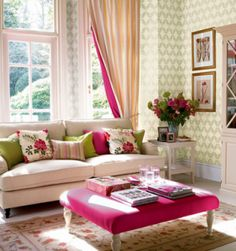 Watermelon Inspiration Can Build A Beautiful Pink And Green Living Room Home Decor