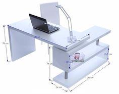 escritorio ejecutivo minimalista moderno con base giratoria #Casasminimalistas