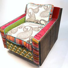 Chairs for Sale - Shawna Robinson : Creator of Happy Chair ooooh pretty Funky Furniture, Home Decor Furniture, Painted Furniture, Welcome To My House, Unusual Homes, Chairs For Sale, Cool Chairs, Home Goods, Upholstery