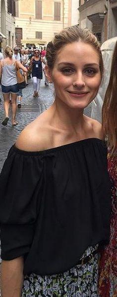 Olivia Palermo:  Shirt – Tibi  Skirt – Topshop