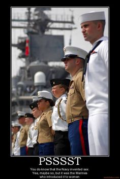 Marine Corps : For four of our Marine's friends currently serving in the Navy!