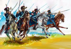 Portuguese cavalry charge during the Peninsular War.  The British came to the aid of Portugal and Spain against Napoleon.