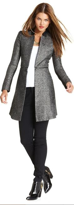 Fitted long jacket - perfect to hide waist, hips and behind - great for a suit jacket or even with jeans