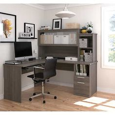 11 best gray l shaped desk images business furniture desk office rh pinterest com