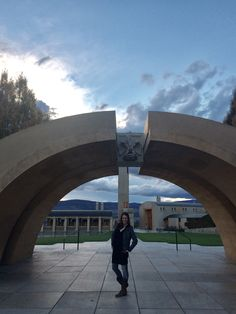 A quick snap under the epic arches that make entry for Mission Hill Winery in Kelowna, BC