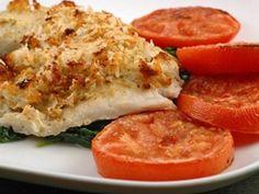 Peixe com Queijo Parmesão - http://www.receitasrapidas.com/peixes/peixe-com-queijo-parmesao/