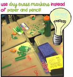 bright ideas: Using dry erase markers on your desktops!