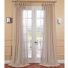 This faux linen sheer curtain panel will add a classic and elegant touch to your room. The tumbleweed color is warm and inviting. The sheer polyester and linen fabric allows for a beautiful diffusion of light into your home or office.