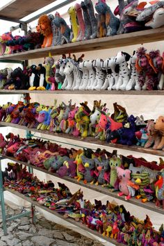 Collections.  Handmade woven wool animals from Chiapas Mexico.