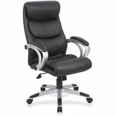 Lorell Executive High Back Chair Black Silver