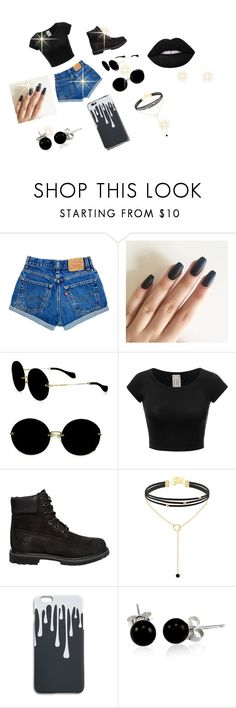 """Untitled #218"" by tanaijahd ❤ liked on Polyvore featuring Miu Miu, Timberland, Bling Jewelry and Lime Crime"