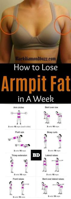 Fat Fast Shrinking Signal Diet-Recipes - Arm fat workout How to get rid of armpit fat and underarm fat bra in a week .These arm fat exercises will make you look sexy in your strapless dress and your friends will be jealous. Try it you do not have anyth # Body Fitness, Fitness Diet, Fitness Motivation, Health Fitness, Workout Fitness, Week Workout, Workout Watch, Sport Motivation, Workout Routines
