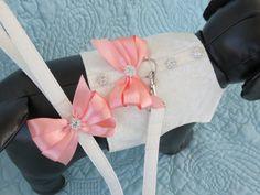 Wedding Dog Harness & Leash Set  Custom Made by graciespawprints