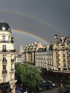 Double rainbow over Paris.