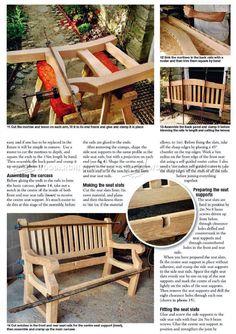 #986 Garden Bench Plans - Outdoor Plans