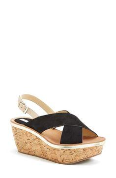 Diane von Furstenberg 'Maven' Wedge Sandal