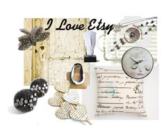 """""""I Love Etsy"""" by whimzingers ❤ liked on Polyvore featuring art"""