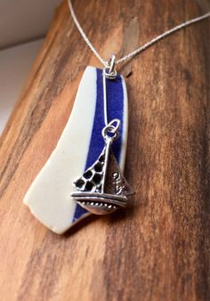 A personal favourite from my Etsy shop https://www.etsy.com/uk/listing/590777558/blue-beach-pottery-sea-pottery-necklace
