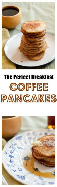 Our recipe for special occasion Homemade Coffee Pancakes.  Warning- they go extremely fast at the table! bloggingwithapples.com