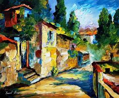 Somewhere In Israel - Palette Knife Oil Painting On Canvas By Leonid Afremov by Leonid Afremov