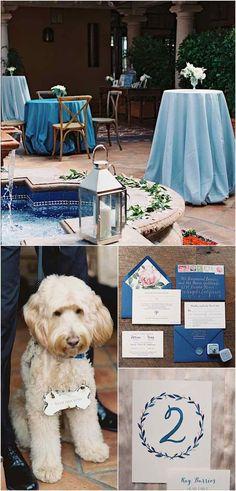 gorgeous blue wedding ideas; photo: Carmen Santorelli