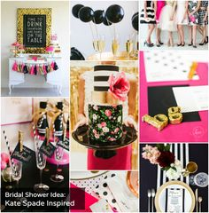 Kate Spade Inspired Bridal Shower. This would've be so cute for a baby girl shower, too!!! LOVE!