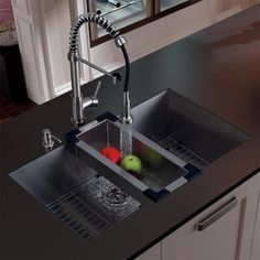 This Vigo sink is manufactured with 16-gauge premium 304 Series stainless steel construction. This kitchen sink is fully undercoated and padded with unique multi-layer sound eliminating technology, which also prevents condensation.