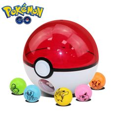 Pokeball Rocket Shot Pokemon Ball Pikachu Figures Anime Action Figures Pokemon Go Toys
