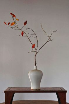 With Ikebana, I prefer the simpler styles like the early Kuge or Shoka that only employ up to three botanical elements mixed with a lot of space