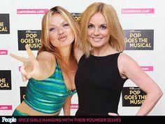 See the Spice Girls Posing with Their Past Selves| Spice Girls, Music, Emma Bunton, Geri Halliwell, Melanie Brown, Melanie Chisholm, Victori...