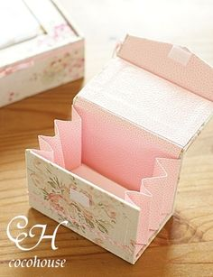 Krabička * z papíru a decoupage.