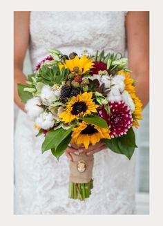 22 Cheery Sunflower Wedding Bouquets - Mon Cheri Bridals