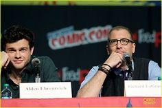 Alden Ehrenreich (Ethan) and Richard Lagravenese at the NY Comic Con Beautiful Creatures Movie Panel  img viaJust Jared