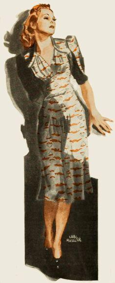 'Hollywood Girl' - 1939 - by Carl Mueller - @~ Watsonette