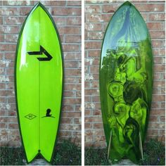 """5'5"""" x 20 1/2"""" x 2 3/8"""" twin fish by @ghettosurf with glassed on bamboo Hobie keels by @true_ames This one is going to be raffled off to raise money for St. Jude's Children's Hospital. Hey, @ghettosurf , where does one buy tickets? #ghettosurf #resinart #twinfin #trueames #surfboard"""
