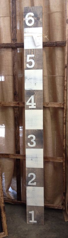 Rustic Wooden Growth Chart