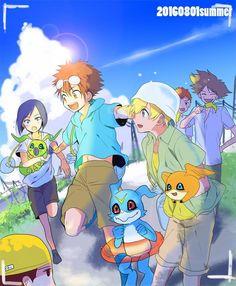 Digimon Seasons, Digimon Adventure 02, Digimon Frontier, Digimon Tamers, Digimon Digital Monsters, Fanart, Art Pictures, Art Pics, Manga